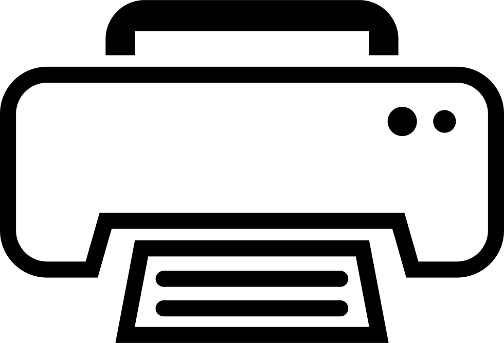 White print outline interface. Are png files good for printing