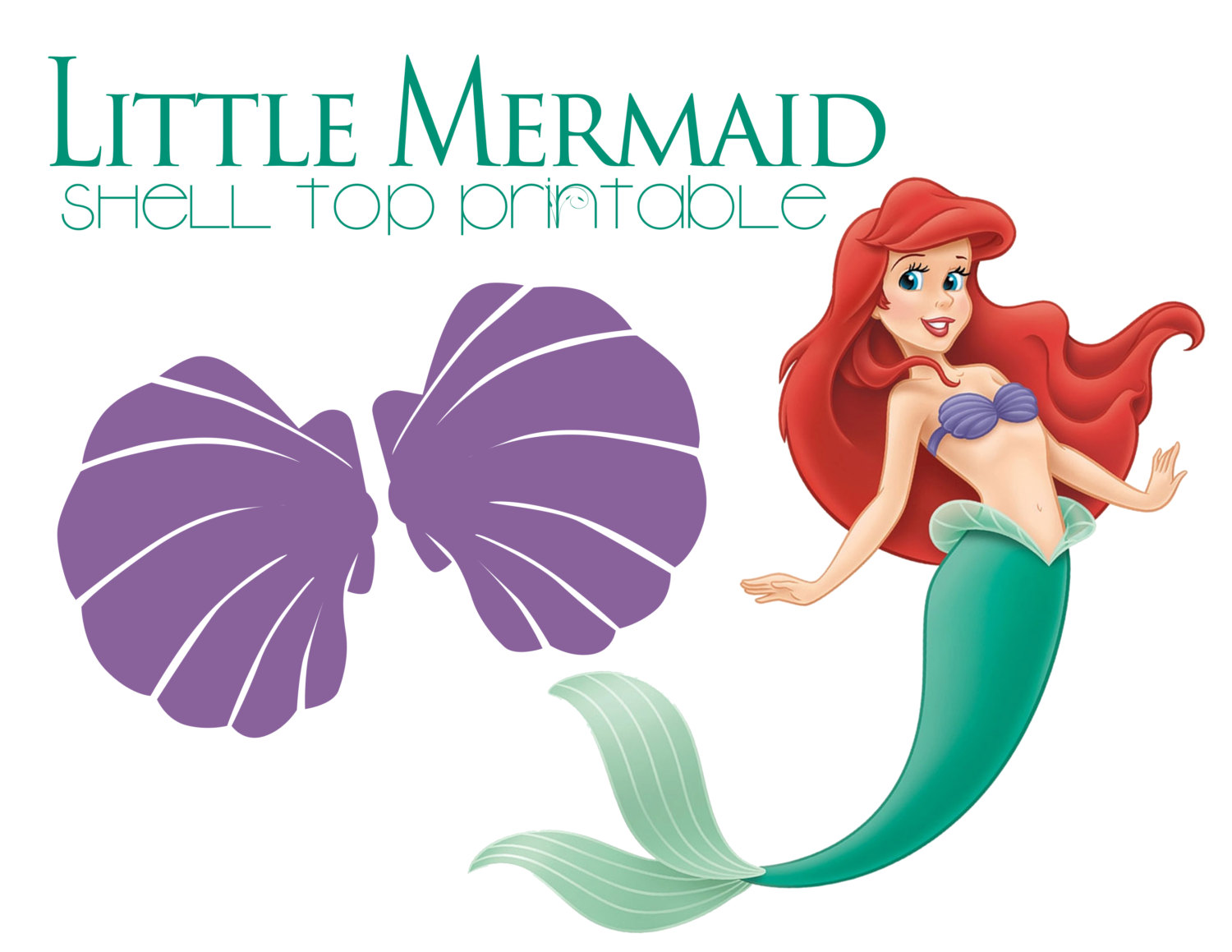 Little mermaid purple shell. Bra clipart ariel
