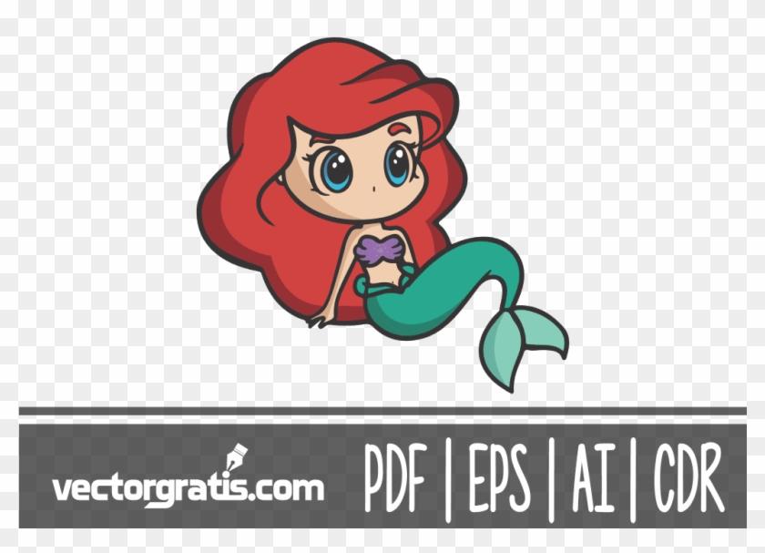 La sirenita chibi v. Ariel clipart easy