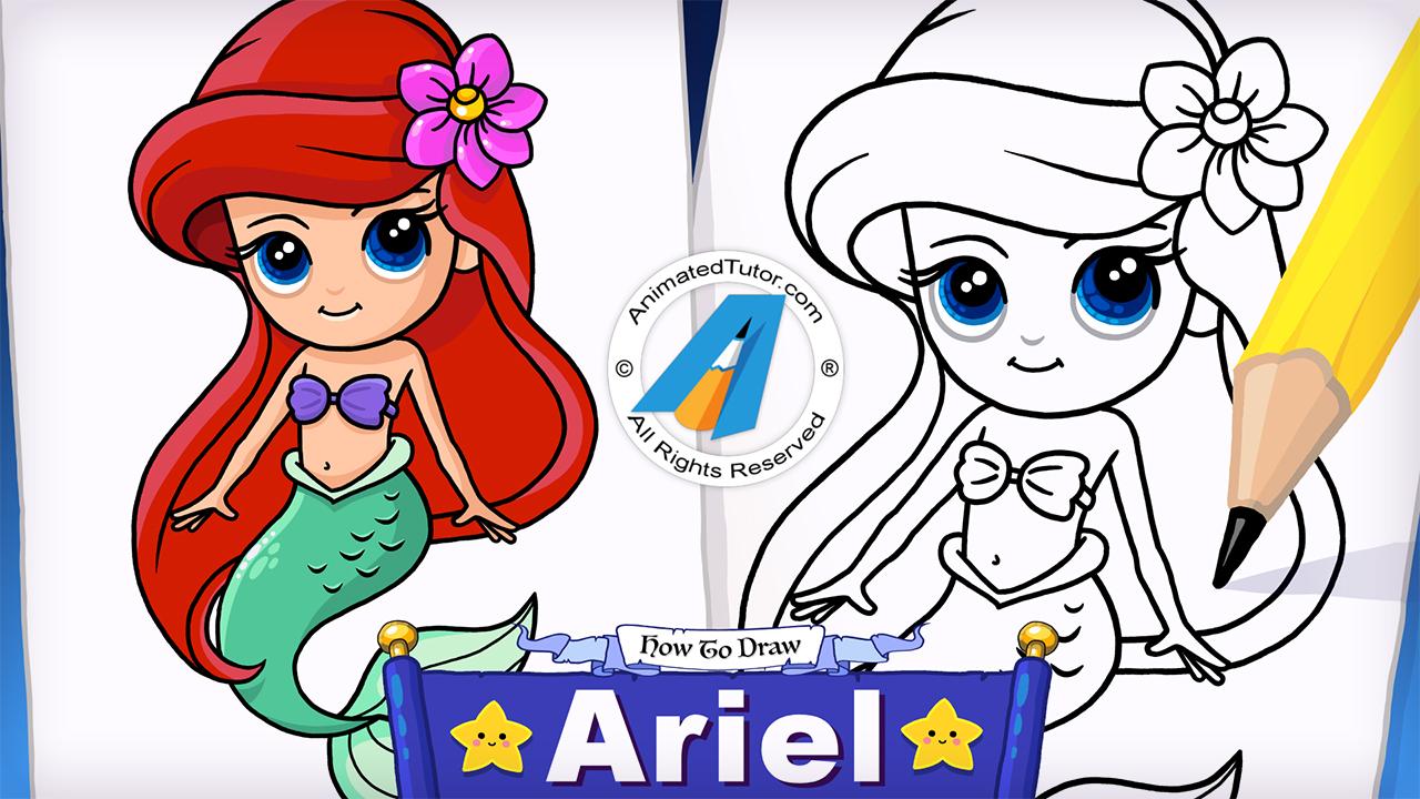 Mermaid drawing at getdrawings. Ariel clipart easy