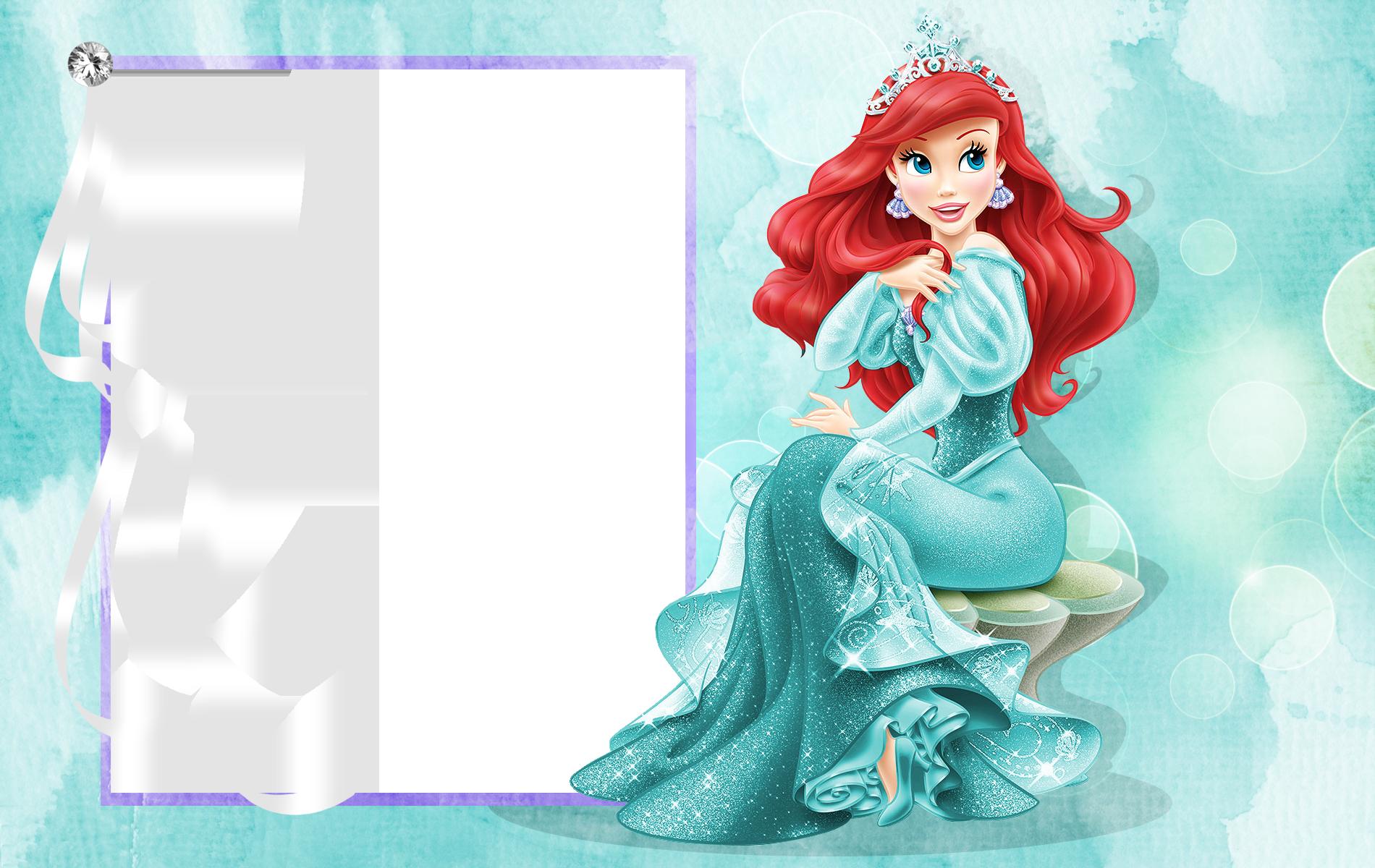 Ariel clipart frame. Princess png transparent gallery