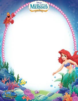 Ariel clipart frame.  best printable ribbons