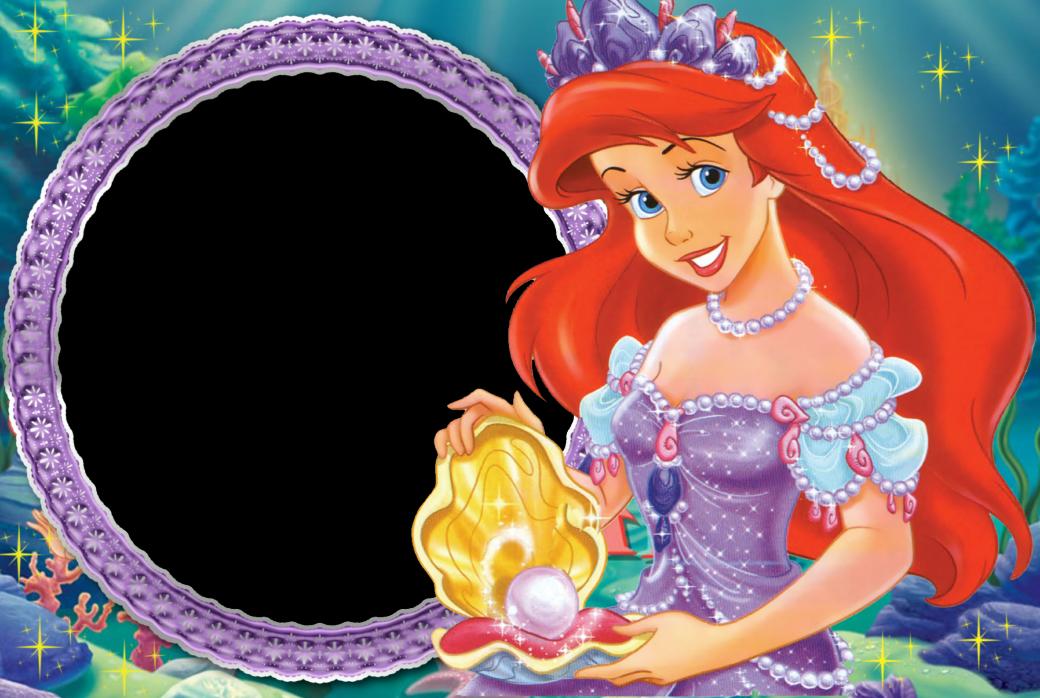 Ariel clipart frame. Princess kids transparent gallery