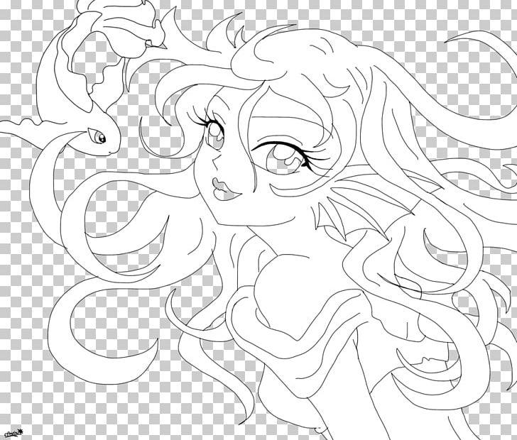 Ariel clipart line. Art drawing mermaid sketch