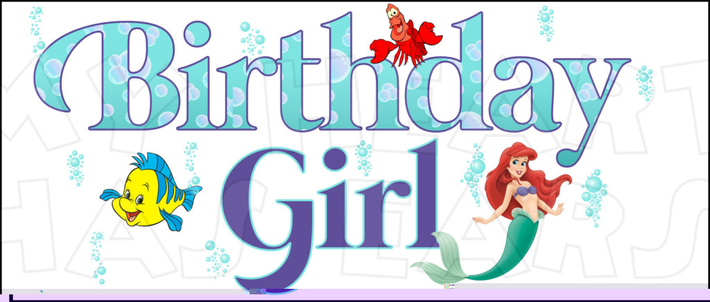 Ariel clipart real life. Birthday girl with the