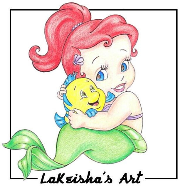 Baby drawing at getdrawings. Ariel clipart sketch