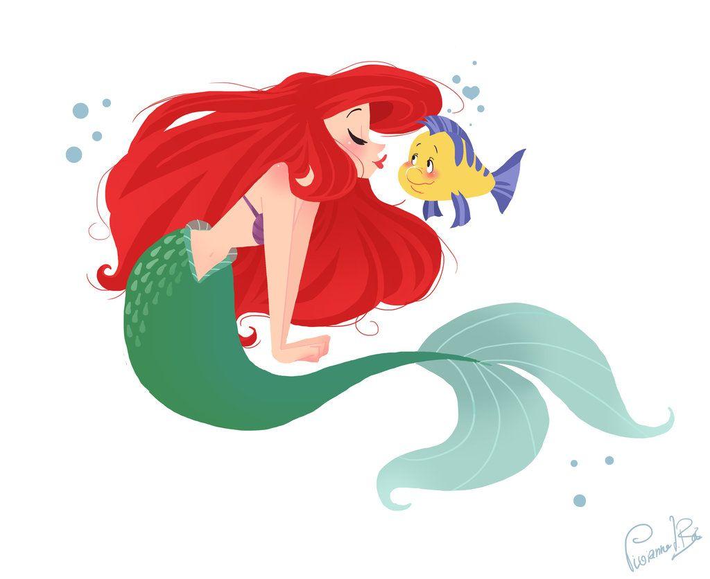 Ariel clipart sketch. That cute little crush