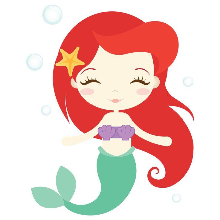 mermaid clipart adorable