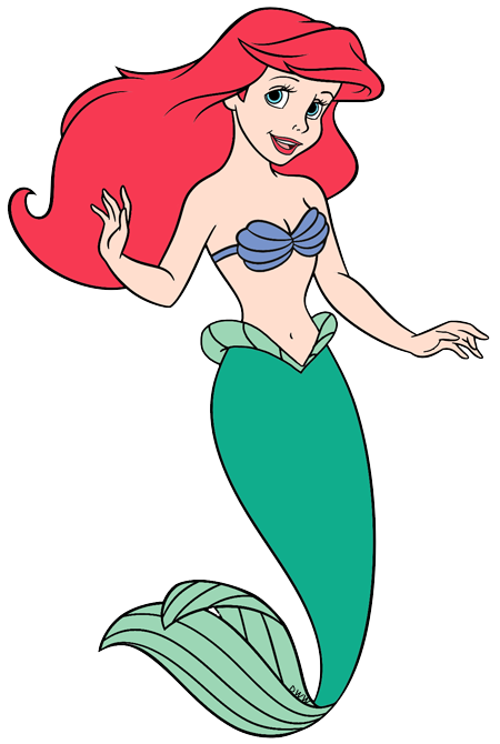 Mermaid clip art disney. Ariel clipart