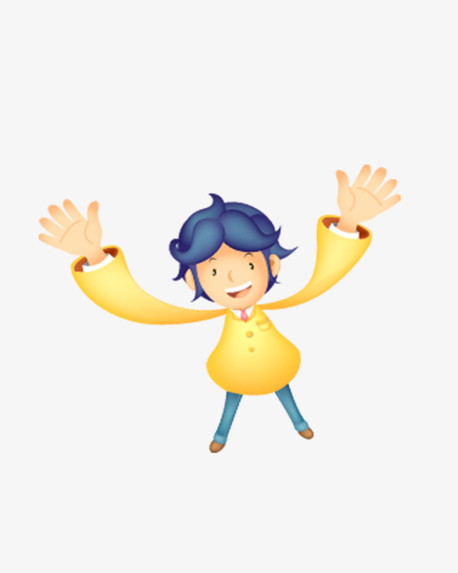 Boy with open arms. Arm clipart animated