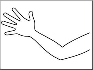 Clip art parts of. Arm clipart body part