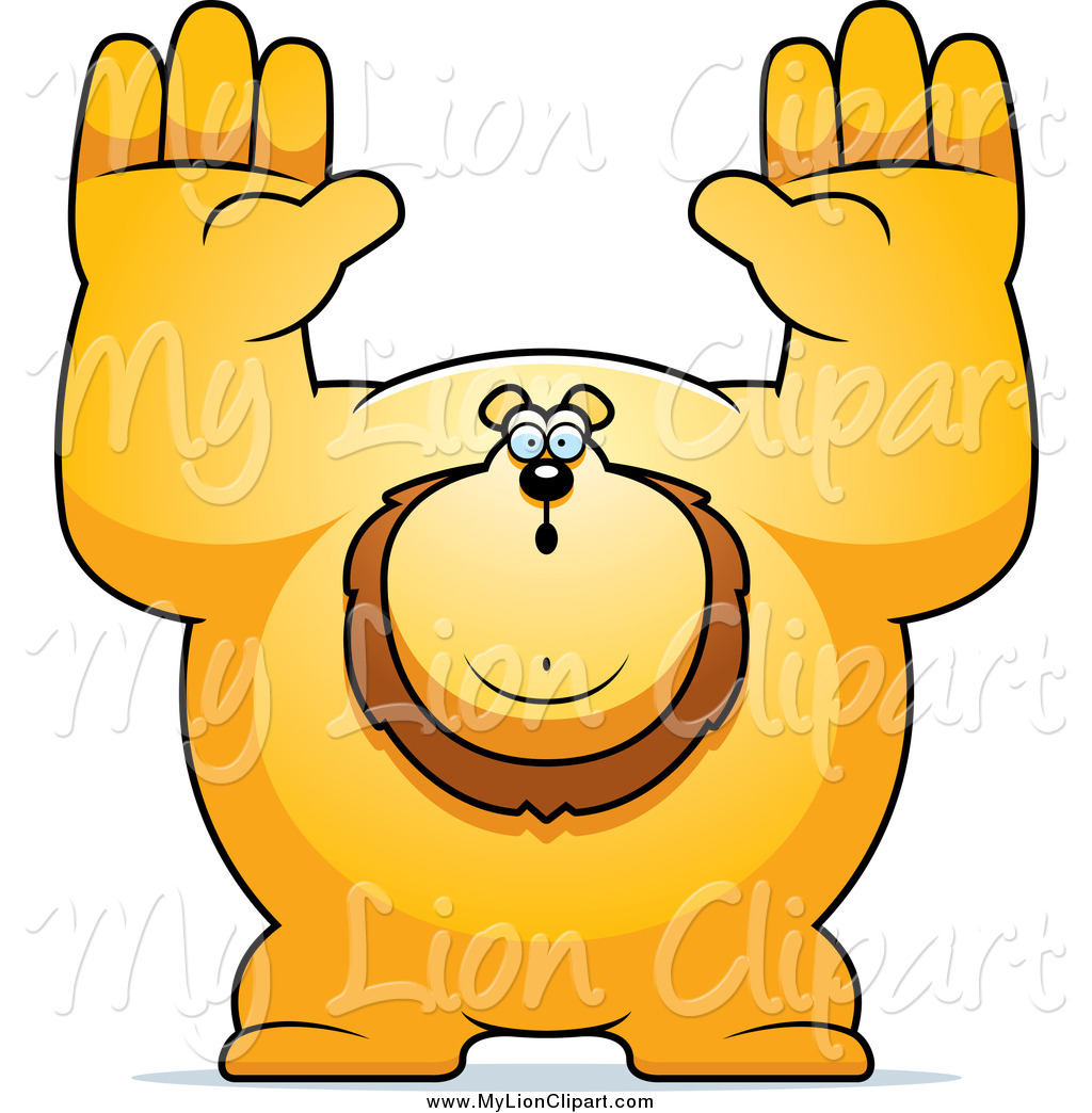 Of a lion giving. Arms clipart buff