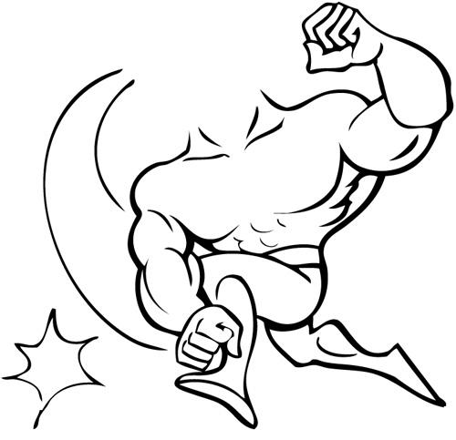 Black and white free. Arm clipart cartoon