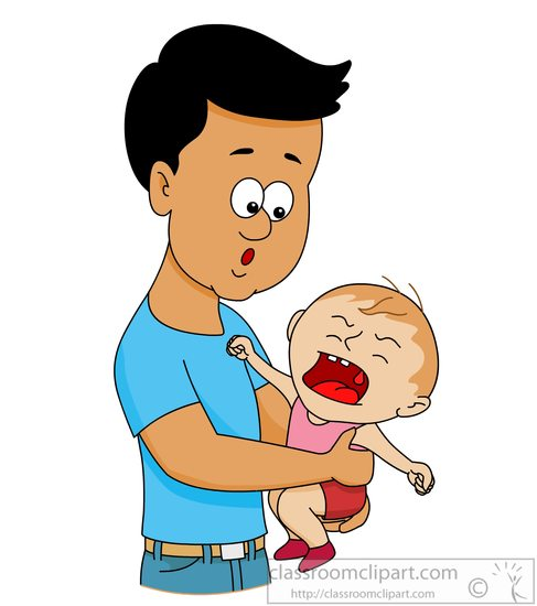Family child crying in. Arms clipart clip art