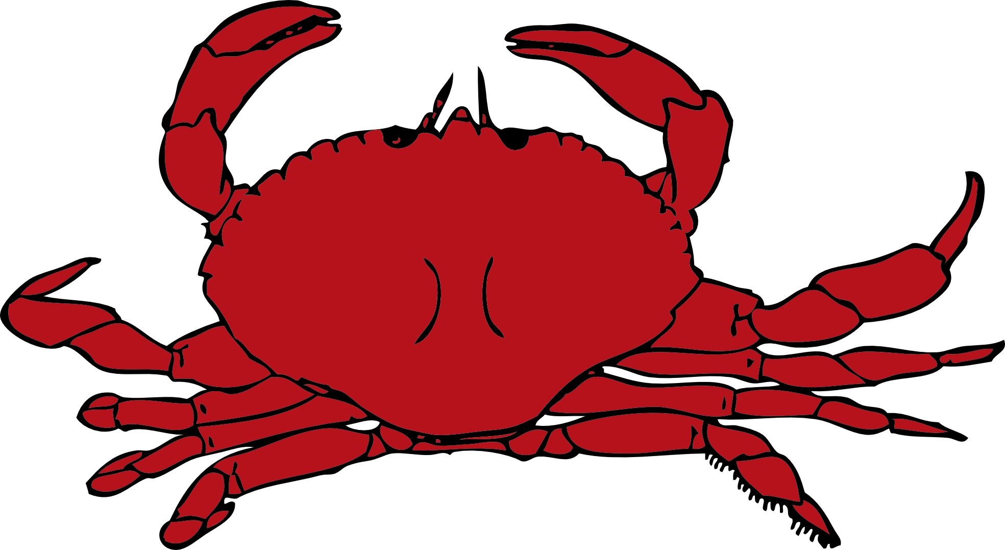 Lobster clipart mud crab. Clip art cartoon panda