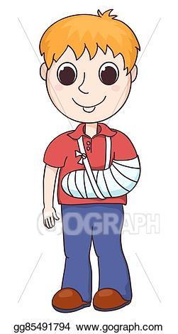 Eps vector boy with. Arm clipart cute