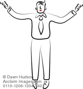 Illustration of simple line. Arms clipart drawing