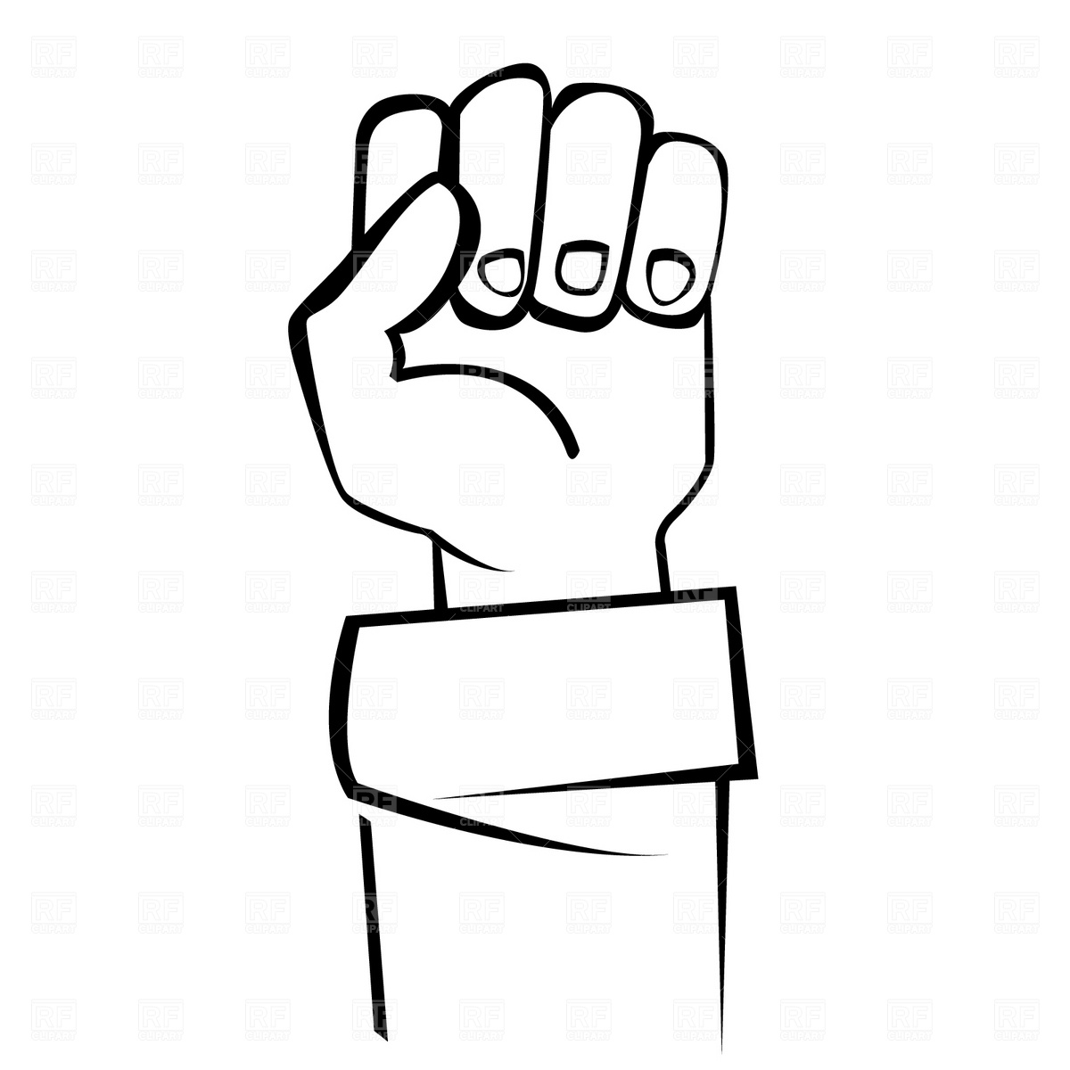 Closed . Fist clipart