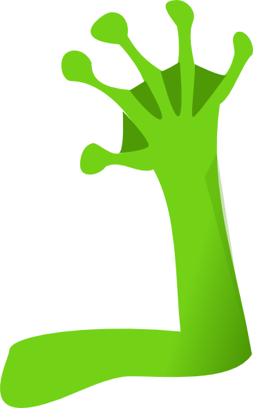Frog green right arm. Arms clipart animated