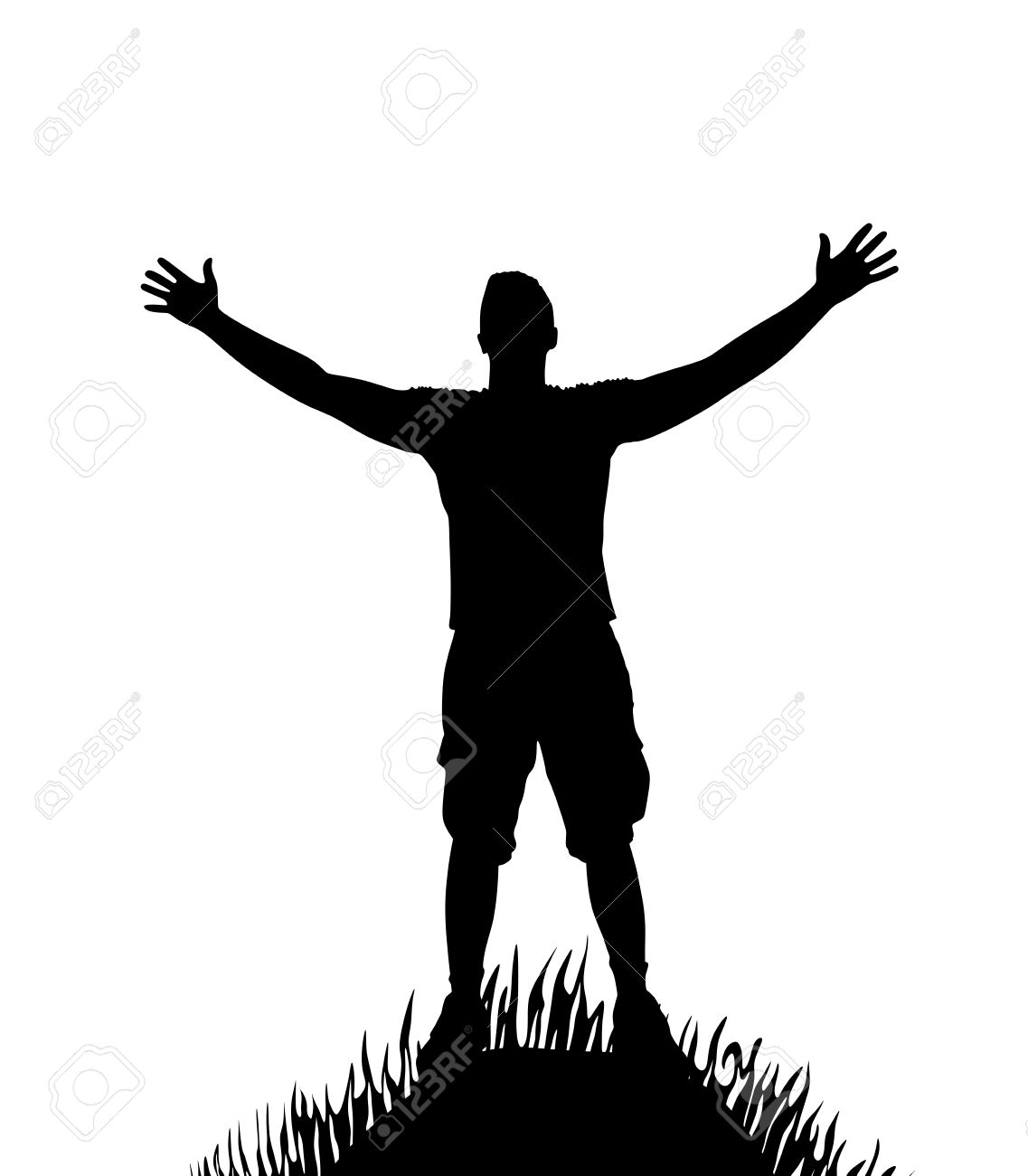 Jesus at getdrawings com. Arm clipart silhouette