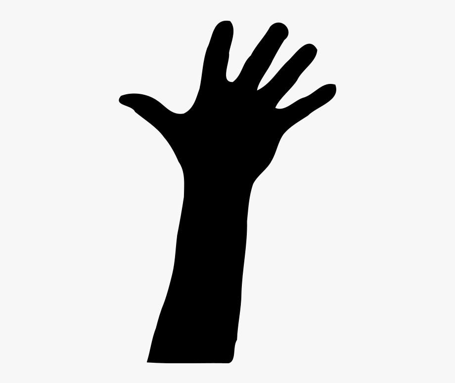 Arm clipart silhouette. Hand clip art free