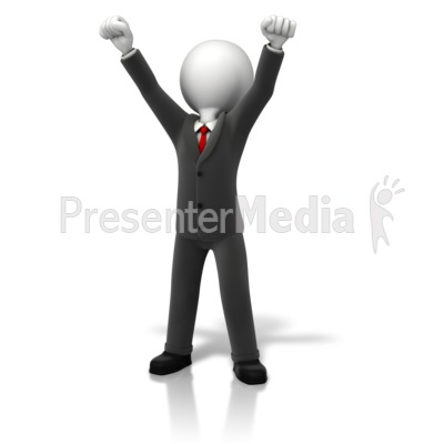 Business celebration up and. Arms clipart animated