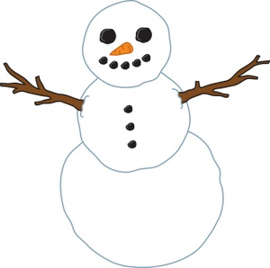 Free snowman image with. Button clipart snow man