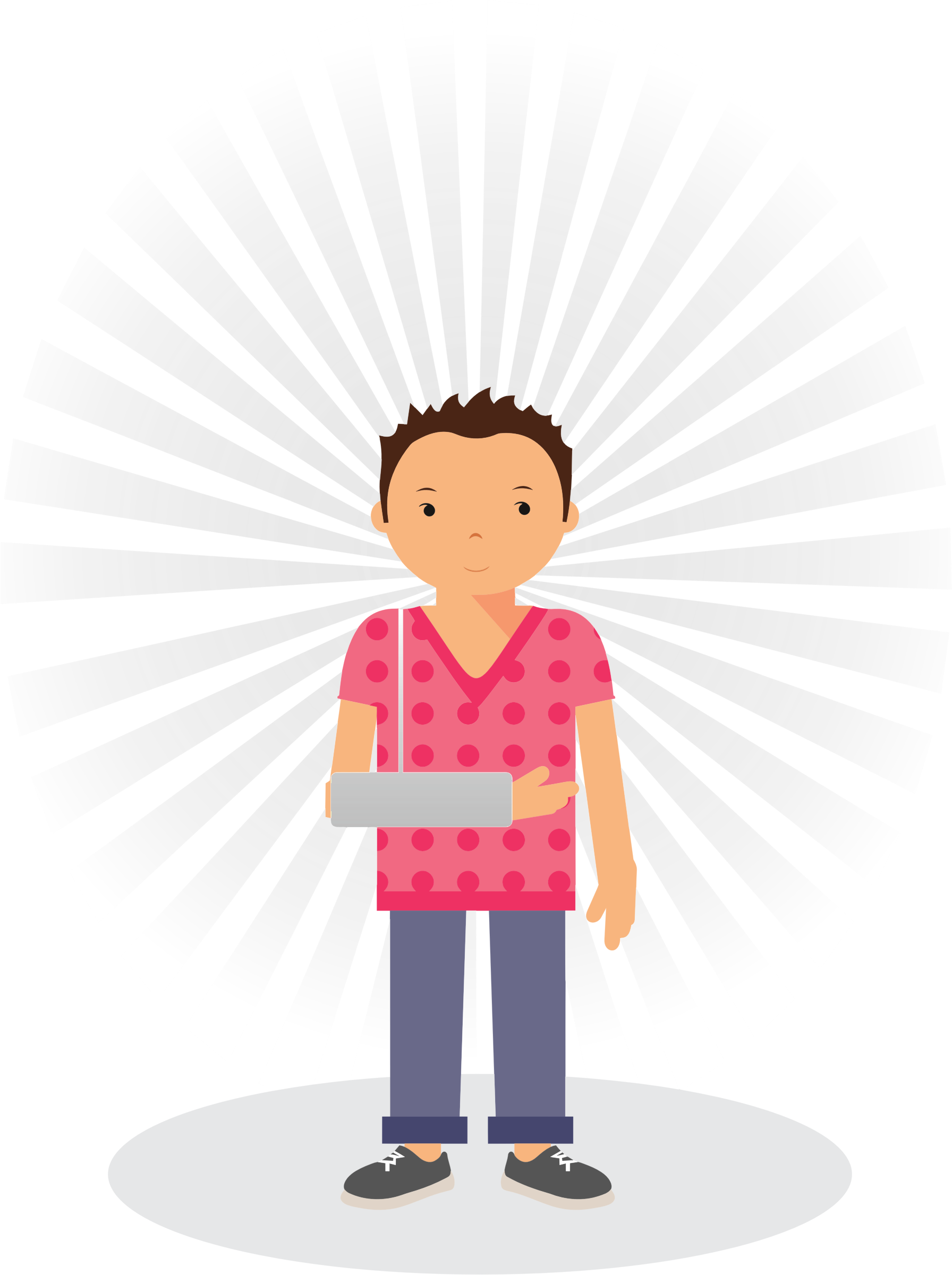 Technology clipart broken. Patient with arm big