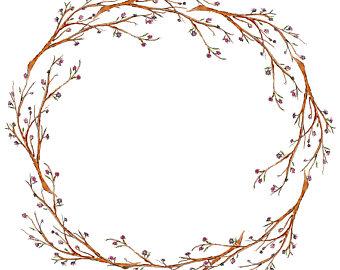 Wreath etsy watercolor minimalist. Arm clipart twig