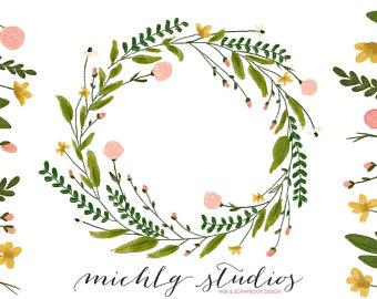 Wreath digital maple floral. Arm clipart twig