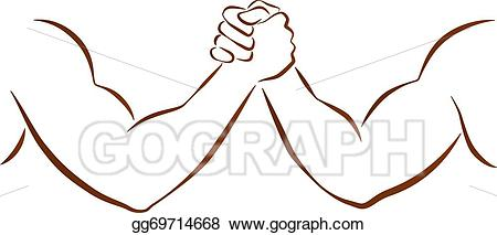 Arms clipart two. Vector stock arm wrestling