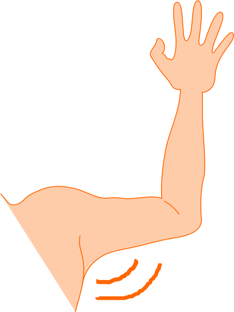 Elbow clipart left arm. Pit medium image png