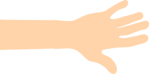 Arm clipart vector. Caucasion and hand clip