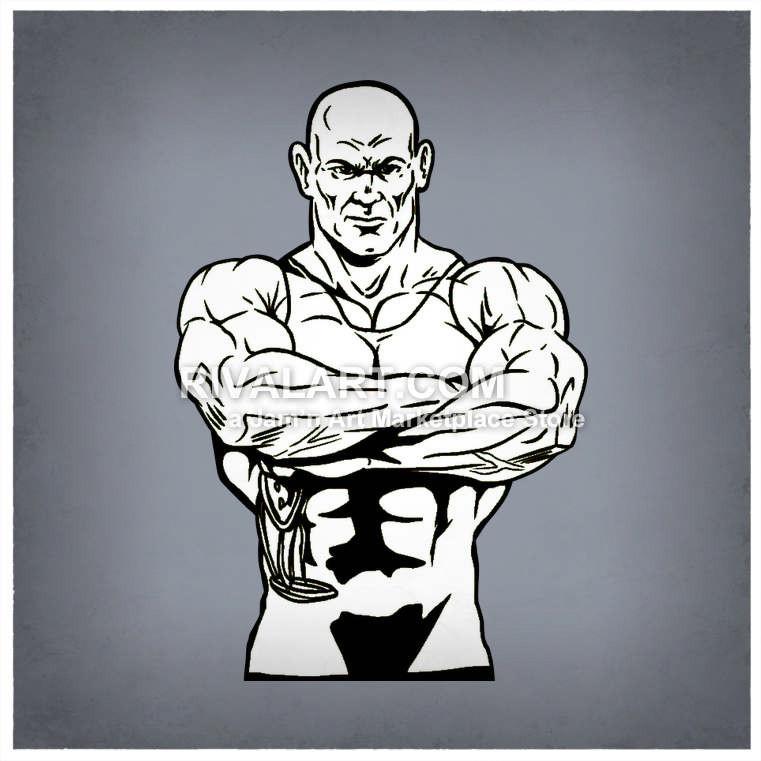 Wrestler wearing a singlet. Arm clipart vector