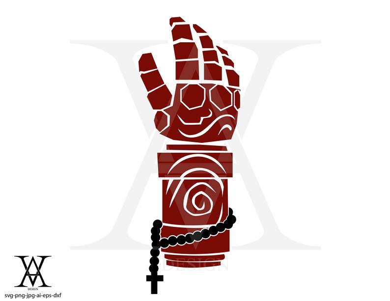 Arm clipart vector. Hellboy comic instant download