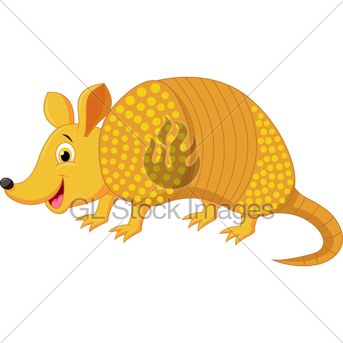 Cartoon gl stock images. Armadillo clipart angry