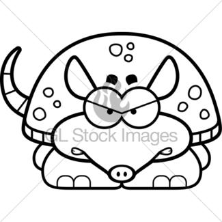 Armadillo clipart angry. Cartoon gl stock images