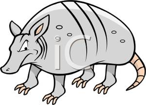 An gray royalty free. Armadillo clipart angry