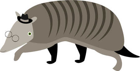 Stock illustration drawing of. Armadillo clipart animated