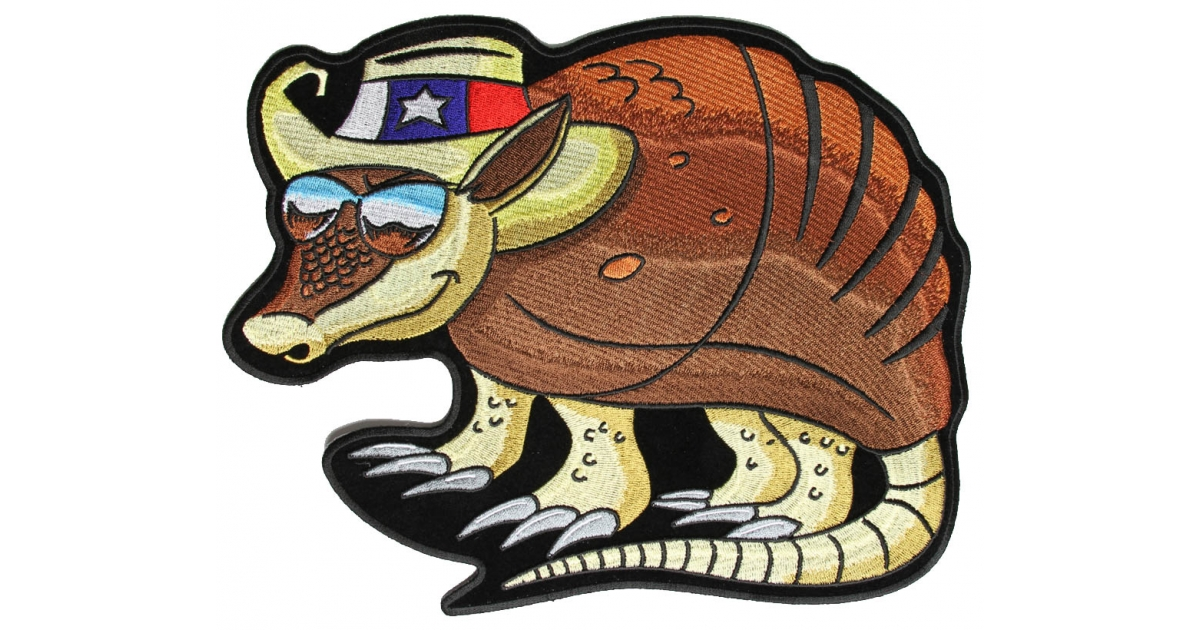 Hat large back patch. Armadillo clipart armadillo texas