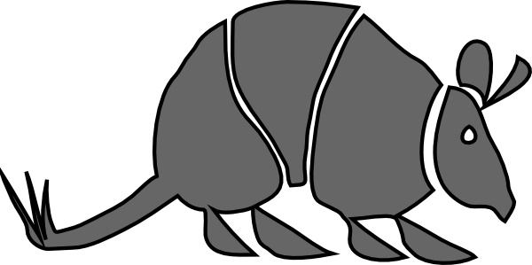 Armadillo clip art Free vector in Open office drawing svg