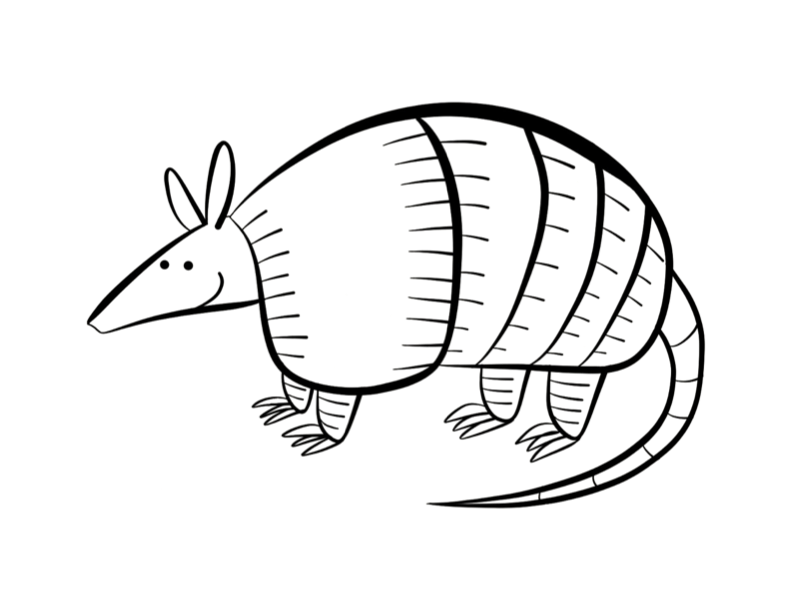 Armadillo Drawing at GetDrawings