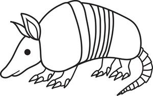 Free clip art image. Armadillo clipart cartoon