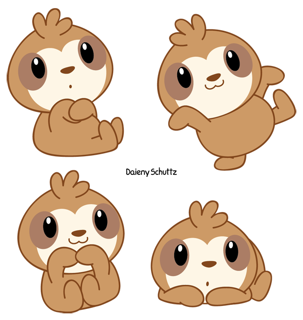 Chibi Sloth by Daieny on DeviantArt