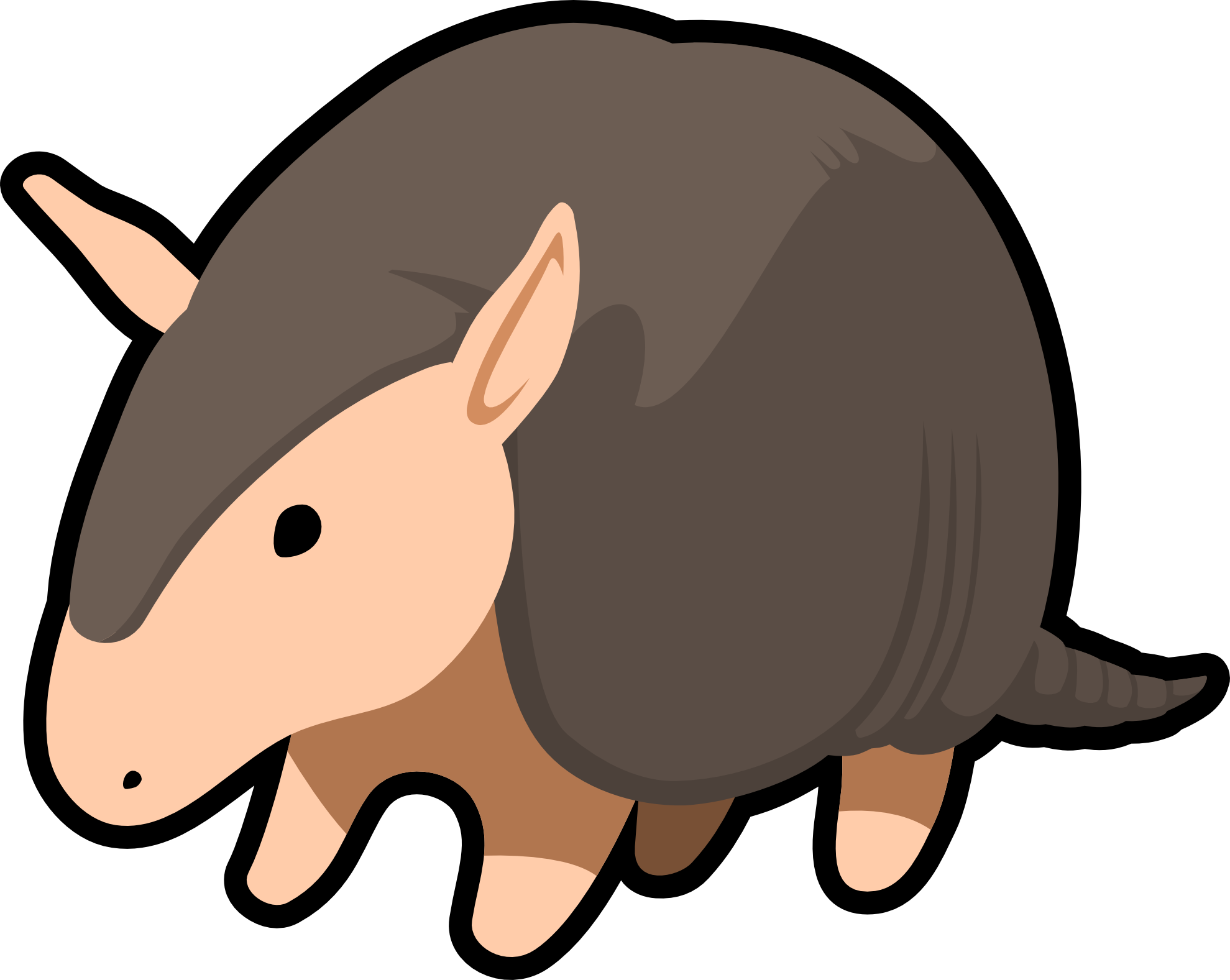 Walrus clipart vector. Clipartist net july armadillo