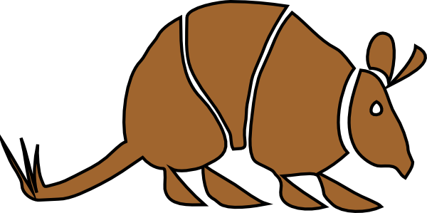 Armadillo clipart simple. Brown clip art at