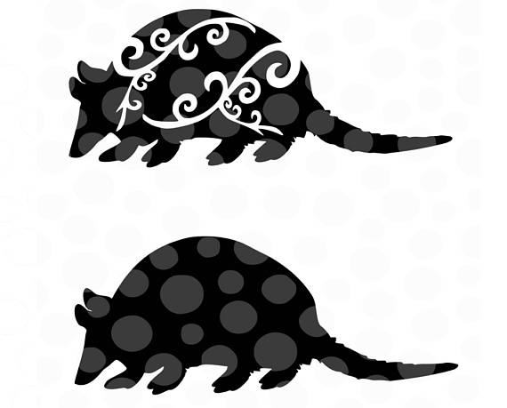 Armadillo clipart svg. Animal silhouettes png pdf