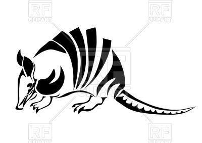 Armadillo clipart vector. Silhouette of image illustration