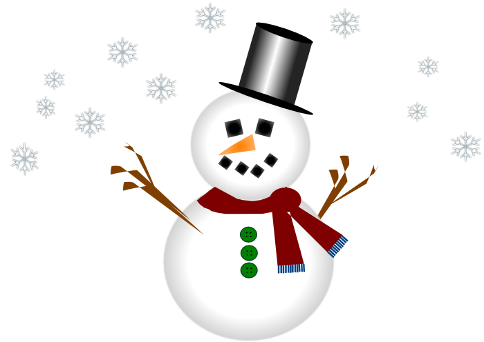 Cute graphics and animations. Clipart snowman building