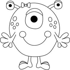 Arms clipart black and white. Four arm monster pta